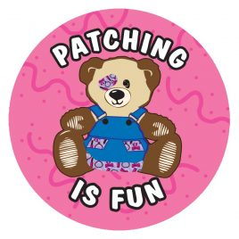 Patching is Fun (Pink) Stickers