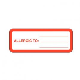 Allergy Labels, 7.5 x 3  cm  320/roll