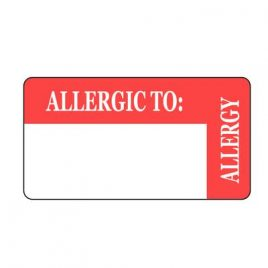 Allergy Labels, 8 x 3 cm  500/roll