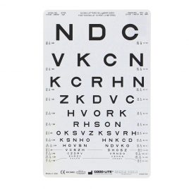Proportional-Spaced Letter Chart, 3m