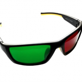 Reverse Wraparound Red/Green Glasses (Adult)