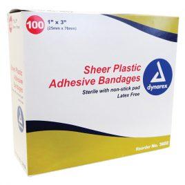 Adhesive Bandages 1″ x 3″, 100/box